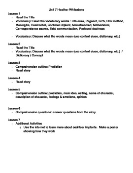 Extraordinary Americans with Disabilities Lesson Plans & Activities