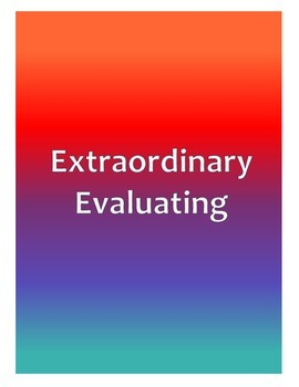 Extraordinary Evaluating