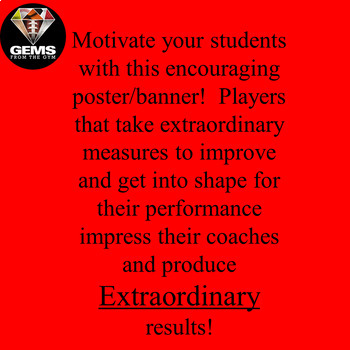 Extraordinary Measures Bulletin Board Motivational Poster Pack!