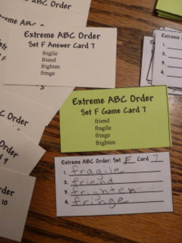 Extreme ABC Order Card Game