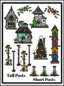 Extreme Birdhouses Clipart