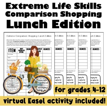 Extreme Life Skills Comparison Shopping: Lunch Edition