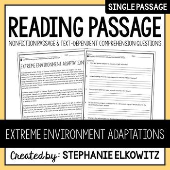 Extreme Environment Adaptations Reading Passage