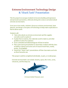 "Extreme Environment Technology Design & ""Shark Tank"" Presentation: STEM Project"
