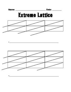 Extreme Lattice Template