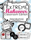 Black and White Classroom Theme Printable Decor Kit