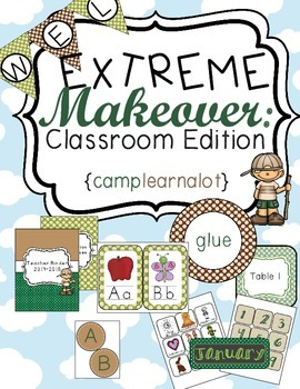 Camping Classroom Theme Printable Decor Kit