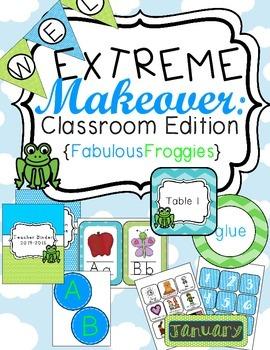 Frog Classroom Theme Printable Decor Kit
