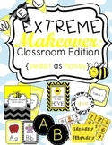 Bee Classroom Theme Printable Decor Kit Yellow and Black