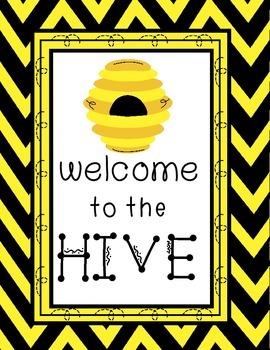 Bee Classroom Theme Printable Decor Kit Yellow and Black