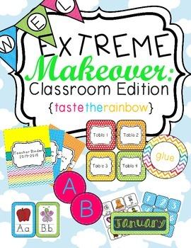 Neon Classroom Theme Printable Decor Kit