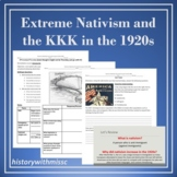 Extreme Nativism and the KKK in the 1920s