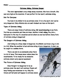 Extreme Skiing Main Idea and Nonfiction skills (Journeys L