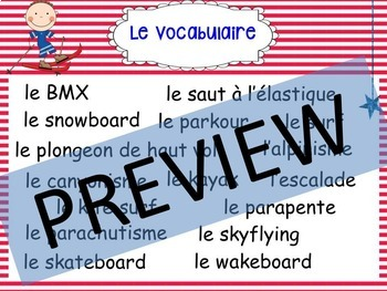 French, Extreme Sports: Presentation