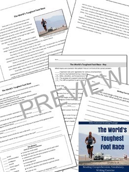 Extreme Sports Informational Reading Bundle