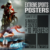 """Extreme Sports Posters (""""Learn To"""" Series 1)"""