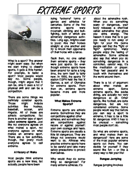 Extreme Sports: Reading Article