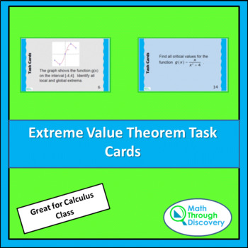 Extreme Value Theorem Task Cards