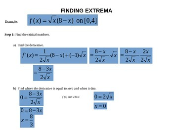 Extreme Values: Maximums, Minimums, and Critical Numbers