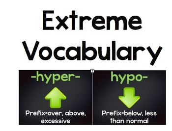 Greek and Latin Roots-Extreme Vocabulary HYPO- and HYPER-