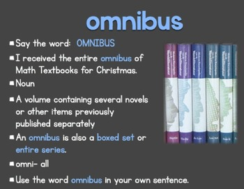 Greek and Latin Roots-Extreme Vocabulary OMNI- and ULTRA-