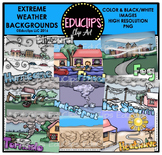 Extreme Weather Backgrounds Clip Art Bundle