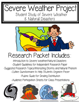 Extreme Weather: Complete Research Project for Students (Print and Go!)