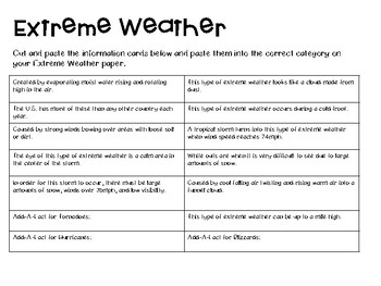 Extreme Weather Cut and Paste