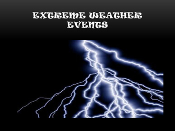 Extreme Weather Event Poster