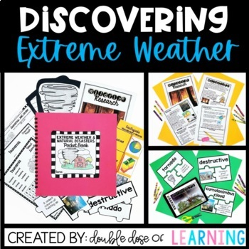 Extreme Weather & Natural Disasters [MEGA] Unit bundle with 6 PowerPoints