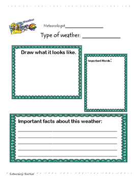 Extreme Weather Research Graphic Organizer