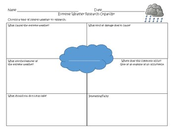 Extreme Weather Research Organizer