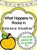 Rocks and Minerals: Extreme Weather Rock Journal Lab