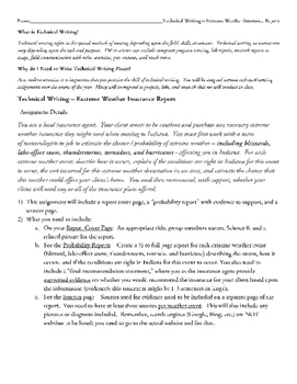 Extreme Weather - Storms Insurance Report - Technical Writing