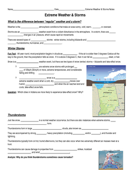 Extreme Weather & Storms Notes