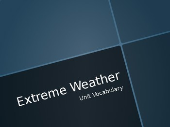 Extreme Weather Unit Vocabulary (ASL)