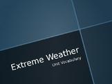 Extreme Weather Unit Vocabulary (ASL)