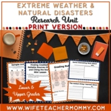 Extreme Weather and Natural Disasters Research Project & U