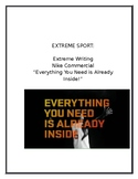 Extreme Writing: Extreme Sport: Nike Commercial