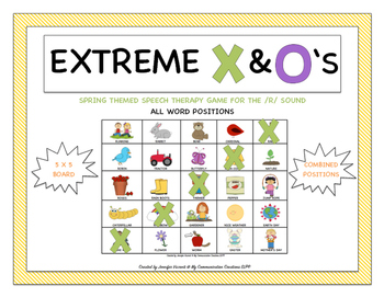 Extreme X & O's Speech Therapy Game for /R/ Combined Positions SLP