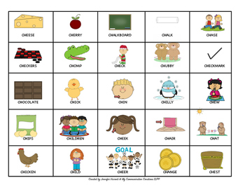 Extreme X and O's Speech Therapy Game for Initial /CH/ SLP Articulation