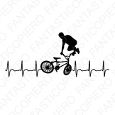 Extreme cardio bicycle freestyle SVG files for Silhouette Cameo and Cricut.