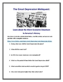 Great Depression Webquest (With Answer Key!)
