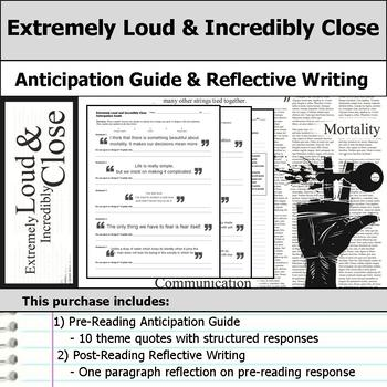 Extremely Loud and Incredibly Close - Anticipation Guide & Reflection