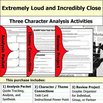 Extremely Loud and Incredibly Close Character Analysis Packet, Theme, & Project