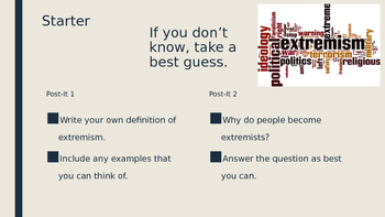 Extremism Lesson
