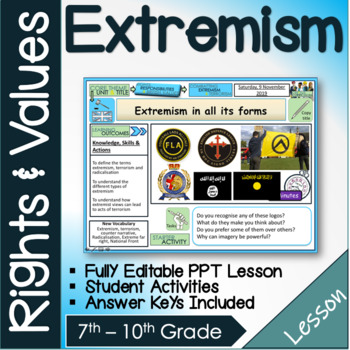 Extremism and Terrorism Lesson