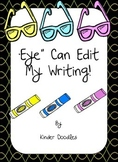 """Eye"" Can Edit My Writing Poster set"