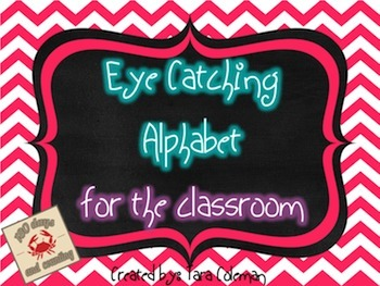 Eye Catching Classroom Alphabet (chalkboard/chevron)