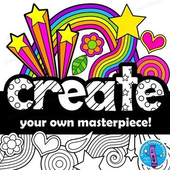 Eye-Catching Colorful Design Elements Clip Art